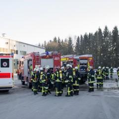 Schwelbrand in Papierfabrik