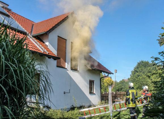 Zimmerbrand in Siebnach